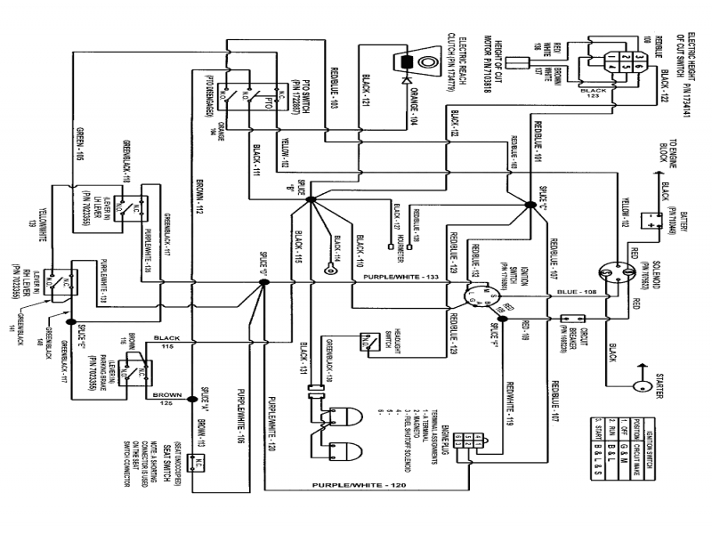 wiring schematic for murray riding lawn mower
