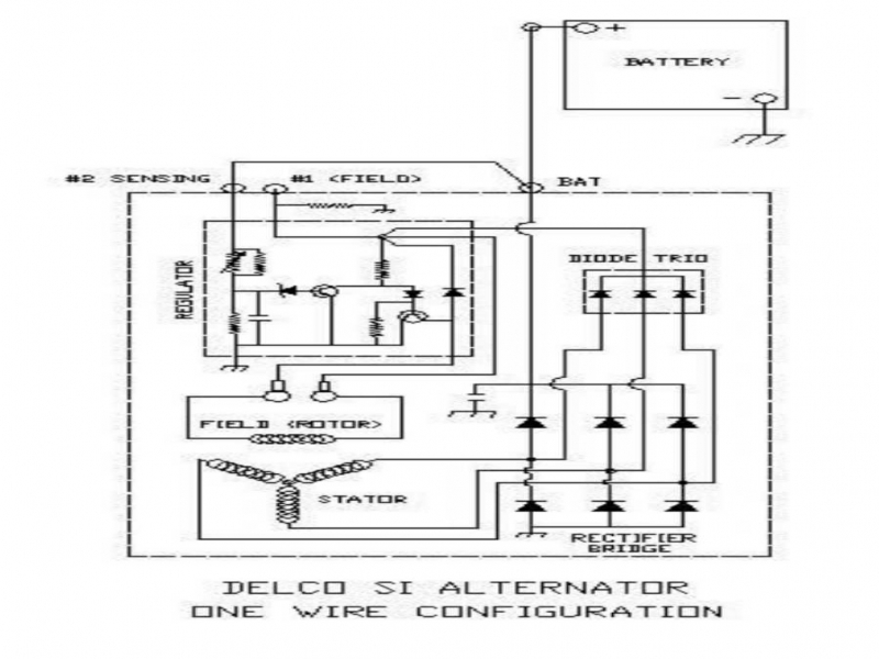 24 volt delco 10si three wire alternator diagram