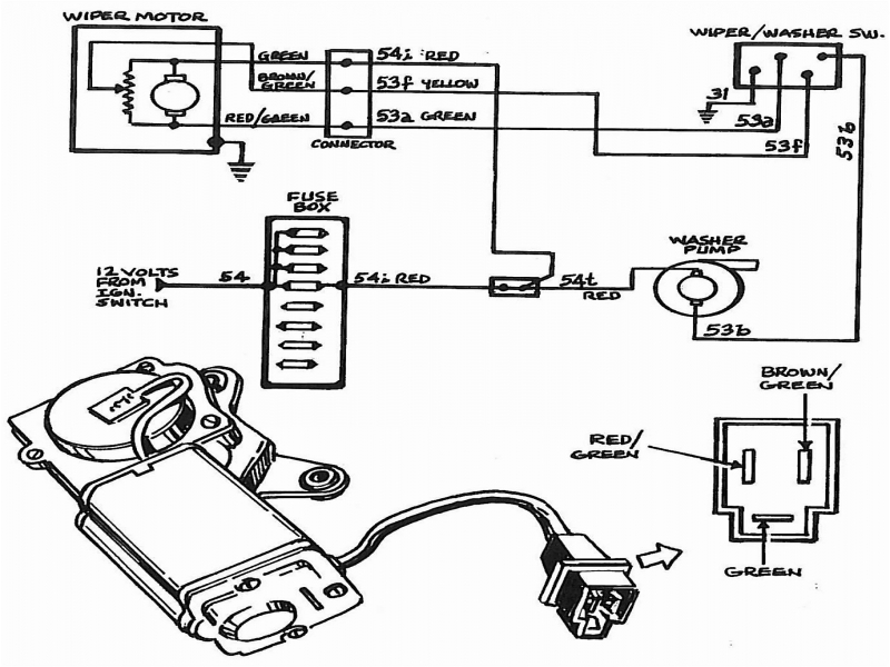 amc wiper motor wiring diagram