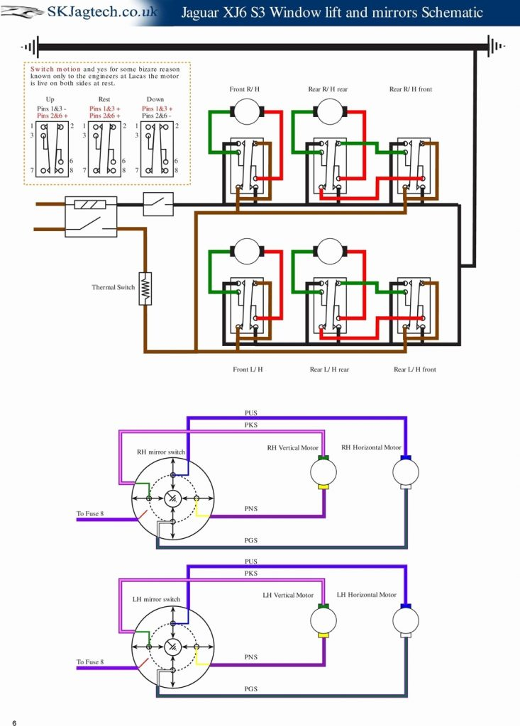 6 Pin Power Window Switch Wiring Diagram - Detailed Wiring Diagram