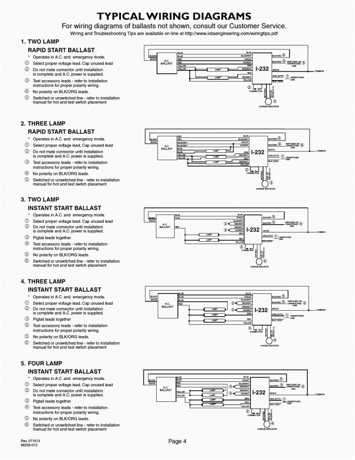 4 Lamp T8 Ballast Wiring Diagram Wirings Diagram