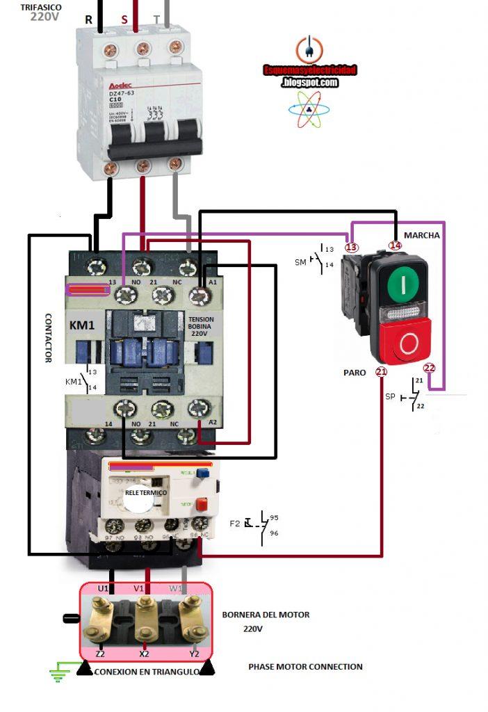 3 Phase Motor Starter Wiring Diagram Pdf Wirings Diagram