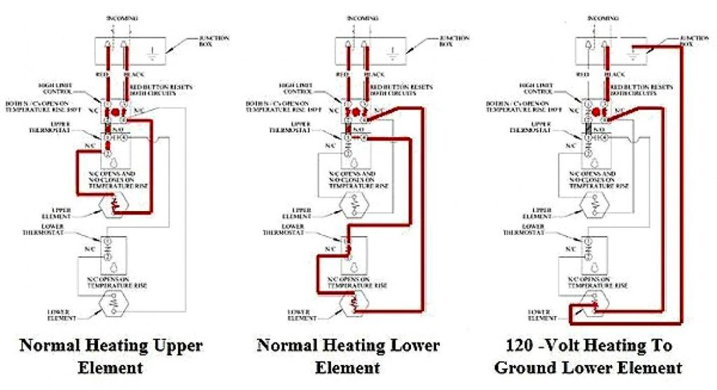 Electric Water Heater Thermostat Wiring Diagram Wirings Diagram