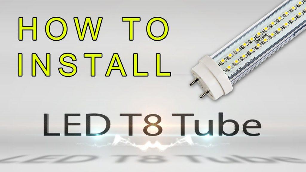 How To Install Led T8 Tube - Youtube - T8 Led Tube Wiring Diagram