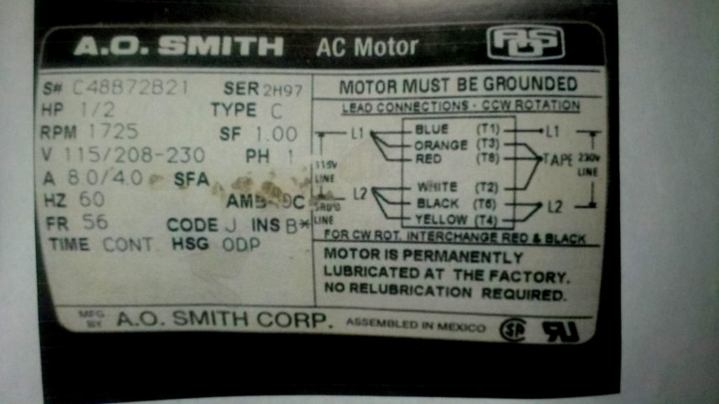 Ao Smith Motor Wiring Diagram Wirings Diagram
