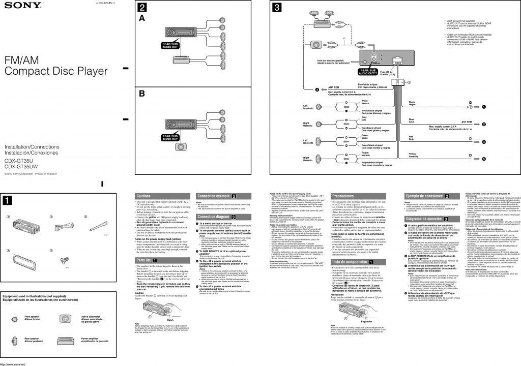 Sony Xplod 52Wx4 Wiring Diagram Wirings Diagram