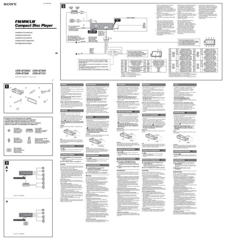 sony cdx-gt565up installation manual Wirings Diagram