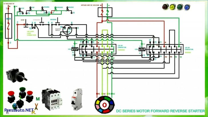 single phase reversing motor starter wiring diagram Wirings Diagram