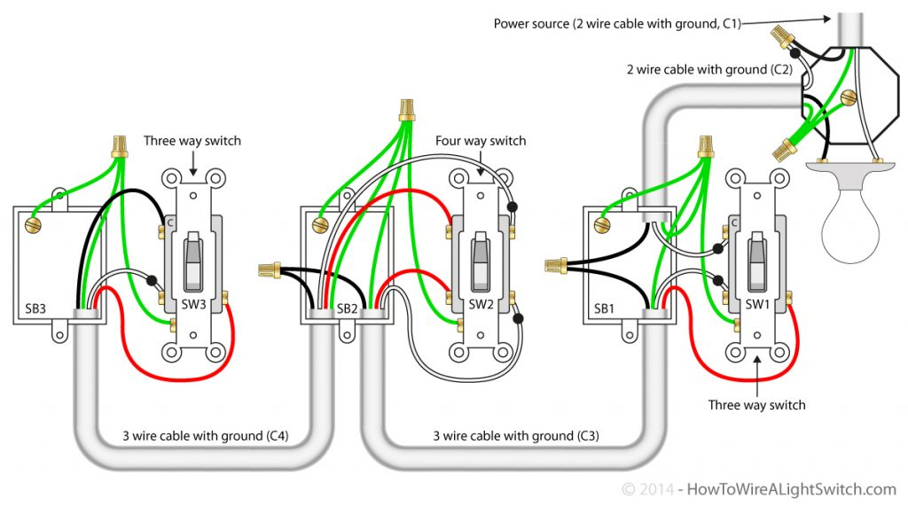 4-Way Switch Wiring Diagram Wirings Diagram