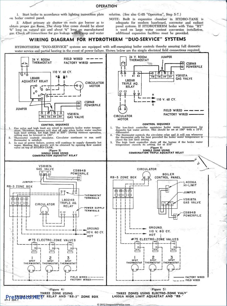 White Rodgers Thermostat Wiring Diagram 1f80 261 - 810
