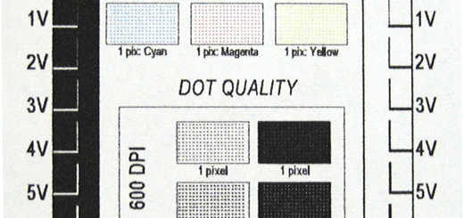 The ability to print fine lines and dots was competitive with that of recently tested printers, both toner- and ink-based. Note that there some  minor difficulties occurred when printing smaller black negative dots and lines.
