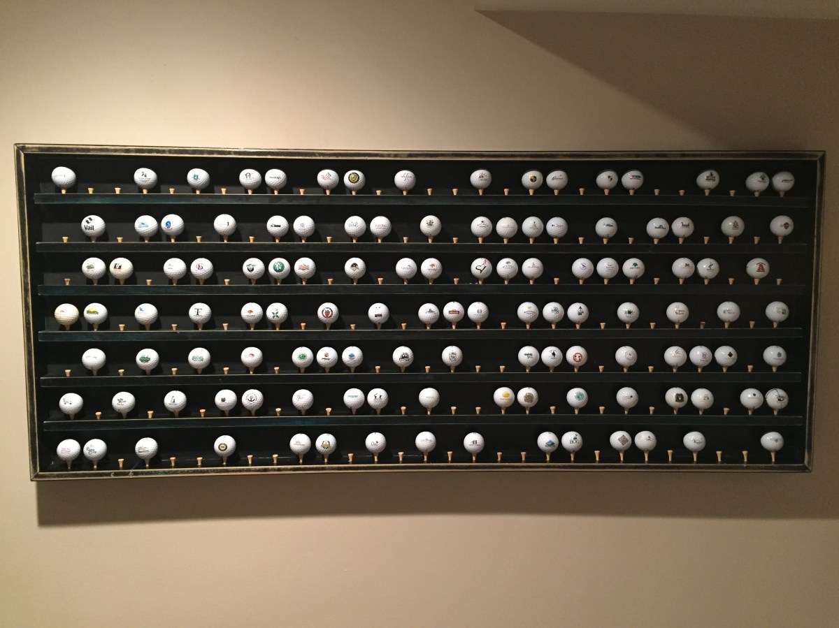 Golf Ball Display Cabinet Project Part 2 Wiscogolfaddict