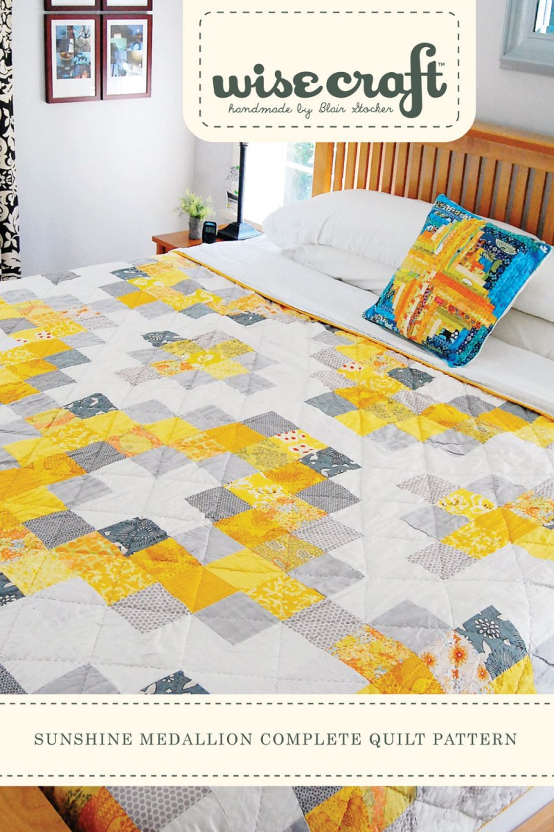 Sunshine Medallion Quilt by Wise Craft Handmade