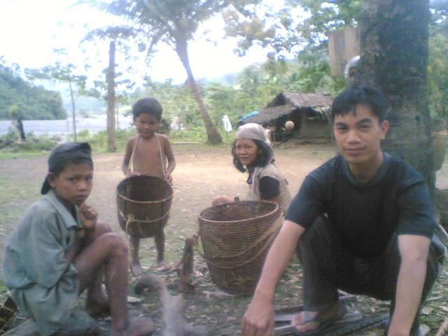 Captain Matib with his Mangyan friends