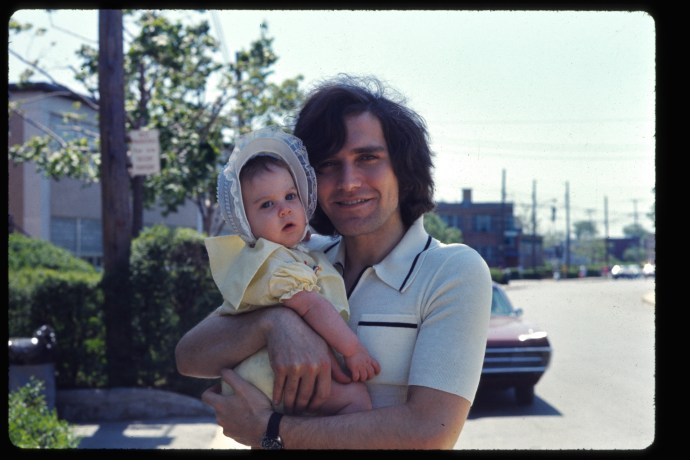 My dad and me, 1972.