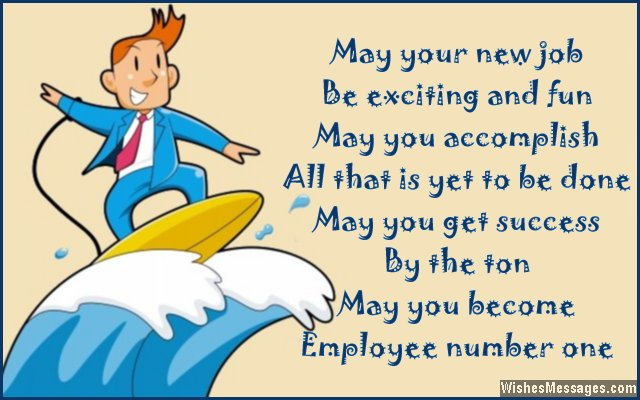 Congratulations for New Job Messages, Quotes and Wishes