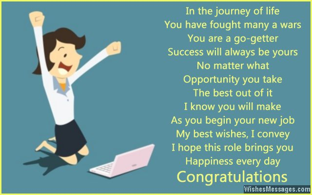 Congratulations for new job New job poems \u2013 Page 3 \u2013 WishesMessages