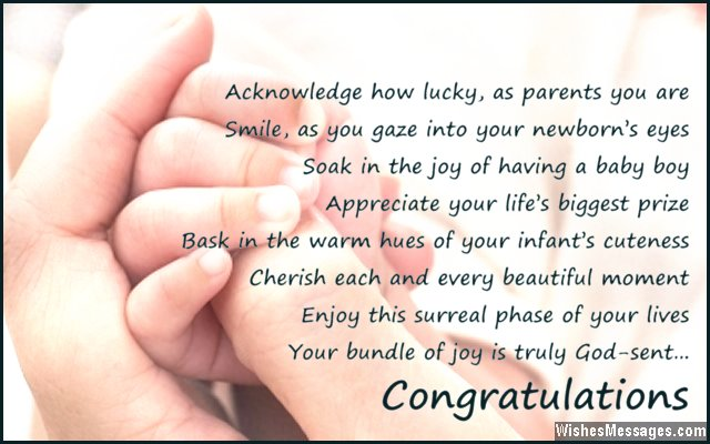 Congratulations for baby boy Poems for newborn baby boy \u2013 Page 2 - congratulations for or on