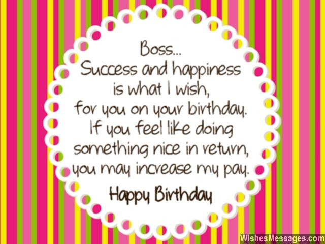 Birthday Wishes for Boss Quotes and Messages \u2013 WishesMessages