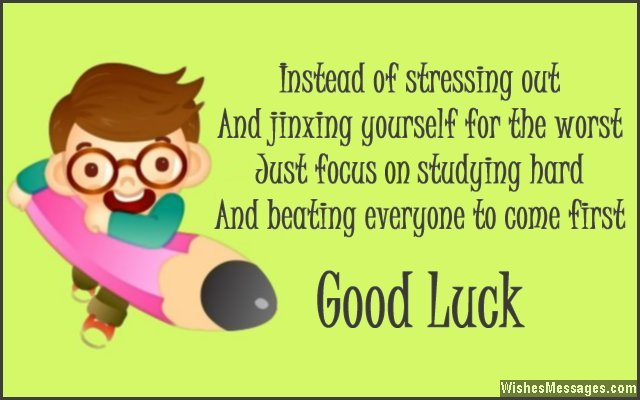 Good Luck Messages for Exams Best Wishes for Tests \u2013 WishesMessages