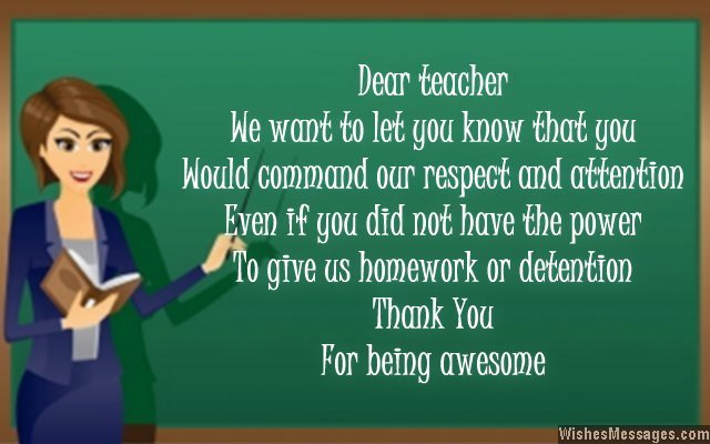 Thank You Notes for Teacher Messages and Quotes \u2013 WishesMessages