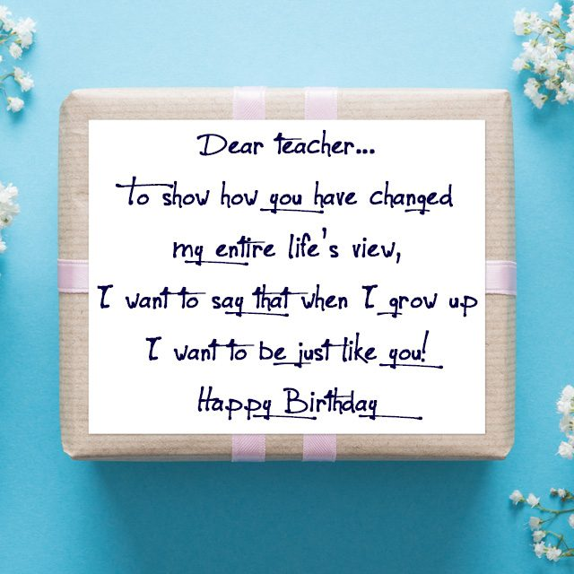 Birthday Wishes for Teachers Quotes and Messages \u2013 WishesMessages