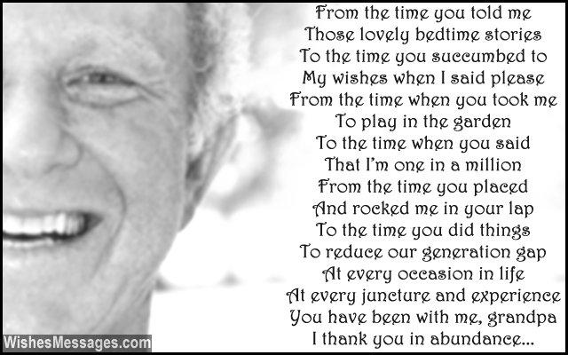Birthday Poems For Grandpa Wishesmessagescom