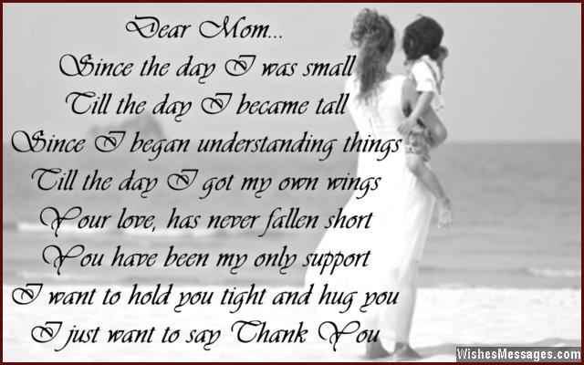 Thank You Poems for Mom \u2013 WishesMessages