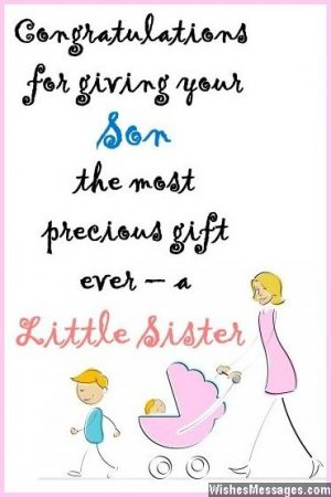 Congratulations for second baby Wishes for 2nd newborn child - baby congratulation card