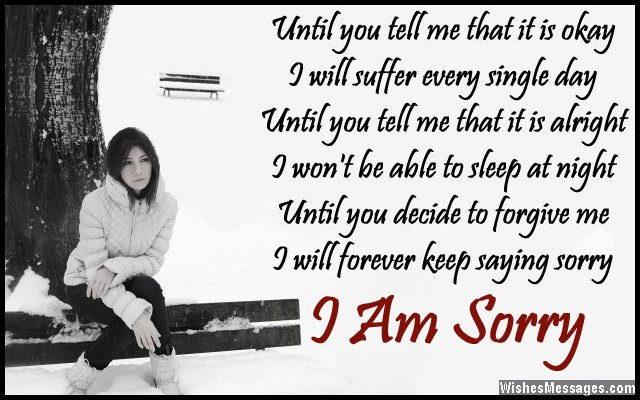 I Am Sorry Poems for Boyfriend Apology Poems for Him - apology card messages