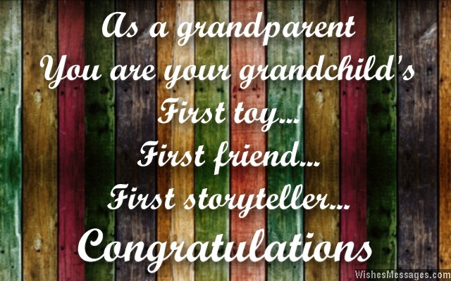 Congratulations for Becoming Grandparents Messages for Grandpas and - congratulations for or on