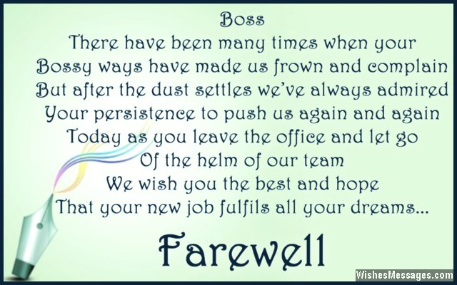 Farewell Messages for Boss Goodbye Quotes for Boss \u2013 WishesMessages - boyfriend thank you letter