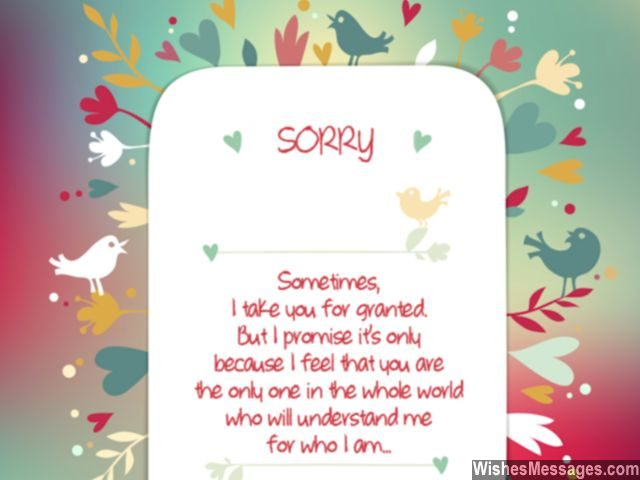 I Am Sorry Messages for Friends Apology Quotes and Notes - apology card messages