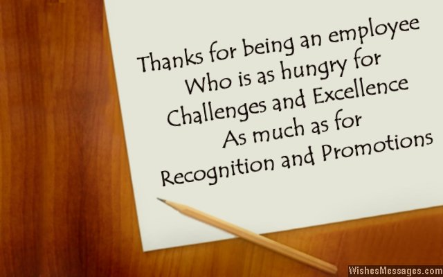 Thank you messages for employees Thank you notes to show - thank you note to employee