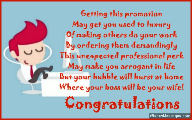 Congratulations for Job Promotion Poems for Promotion at Work - congrats on new position