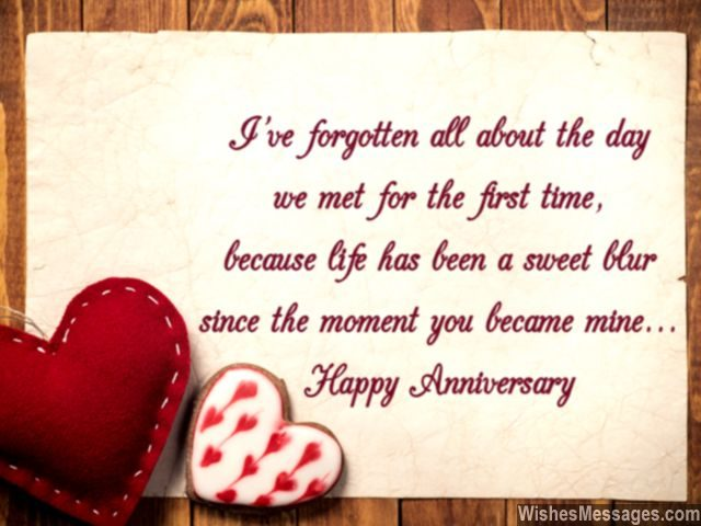 Our anniversary is just a momentary celebration, but our marriage - free printable anniversary cards for her