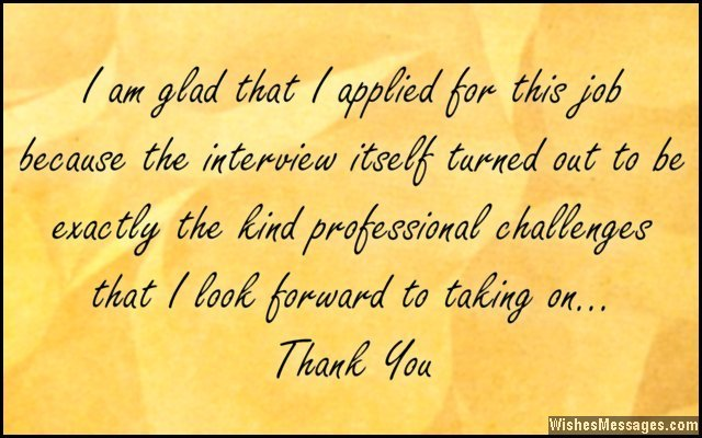 Thank You Messages for Job Interview Thank You Notes