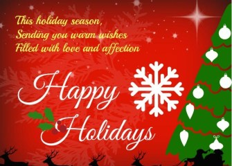 happy holidays wishes