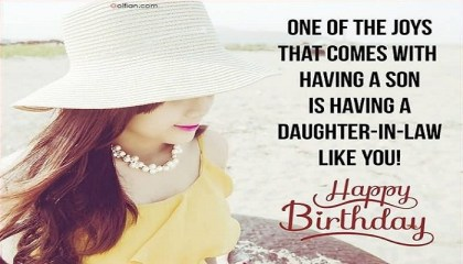 60 Awesome Birthday Wishes And Greetings For Daughter In Law