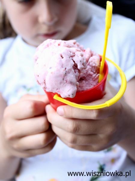 Domowe lody truskawkowe.