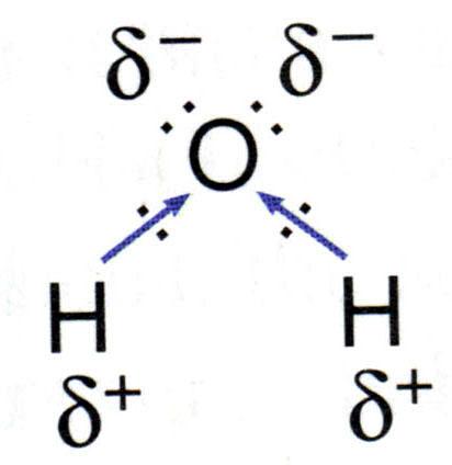 water structural formula diagram