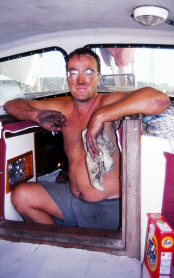 The glamorous cruising life...