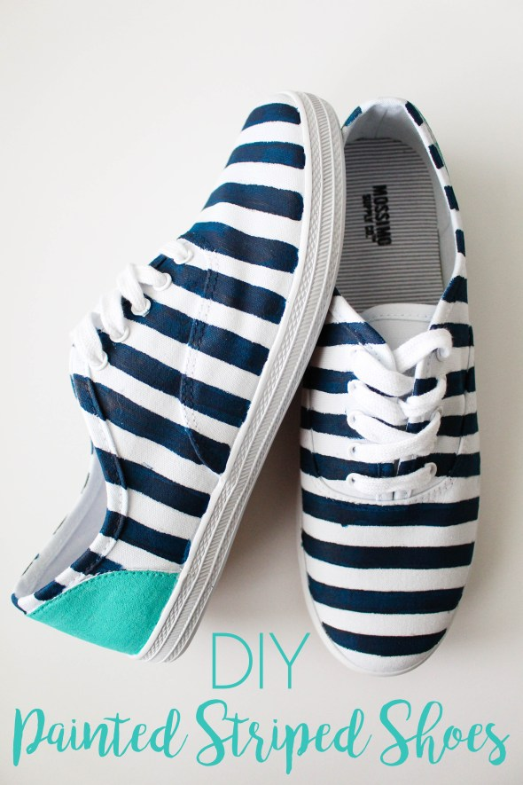 DIY Painted Striped Shoes