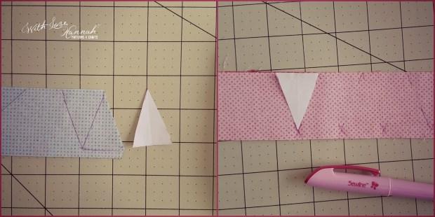 doll sized bunting cut fabric