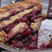 Star Spangled Blueberry & Cherry Pie for the Fourth o' July