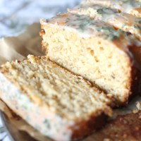Whole-Wheat Lemon Pound Cake with Lemon-Sage Glaze