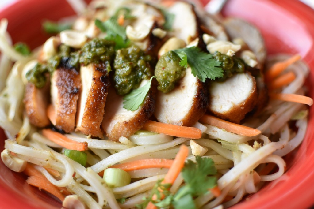 Thai Basil Pesto Noodles - With Two Spoons