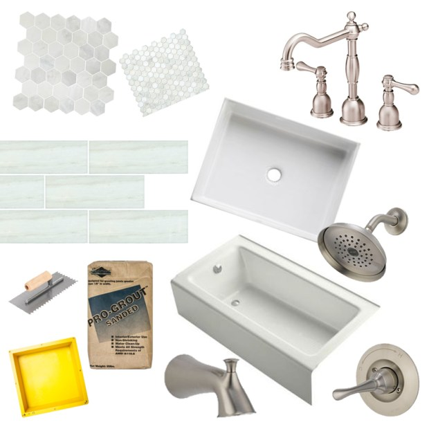 bathroom materials