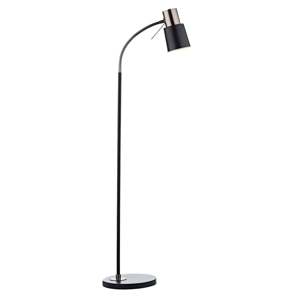 Stehlampe Schwarz Kupfer Bond Floor Lamp Black Copper - Witney Lighting