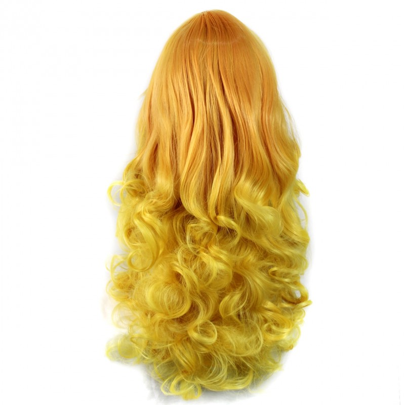 Blonde Bob Wig Human Hair Wiwigs Wiwigs ® Romantic Long Curly Wig Light Orange